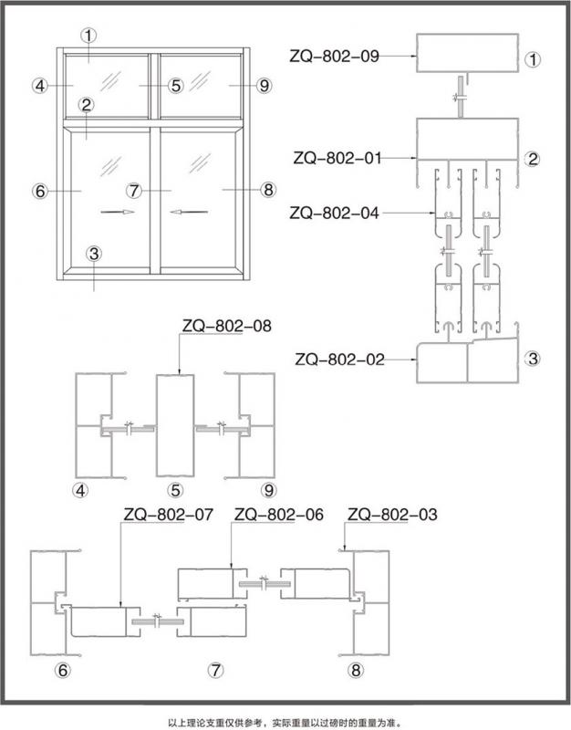 ZQ-802推拉窗系列